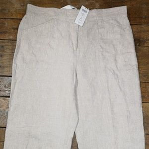 Chico's Size 2 100% Linen Pants Flax Ultimate Fit